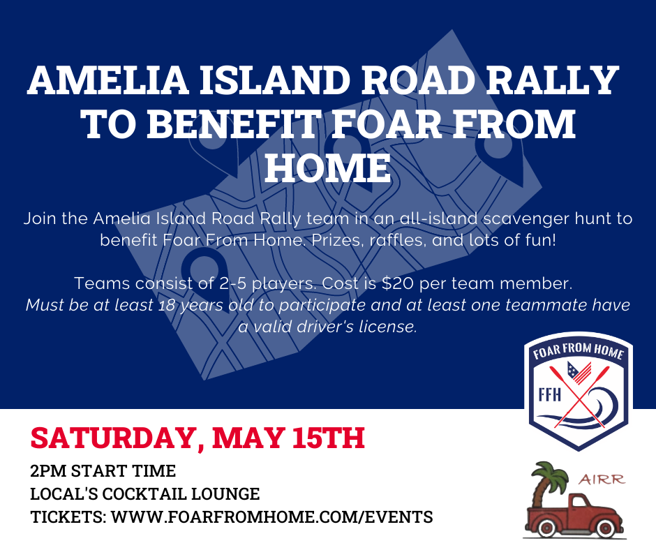 ROAD RALLY TO BENEFIT FOAR FROM HOME